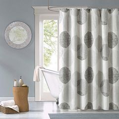 Madison Park Essentials Glendale Fabric Shower Curtain by