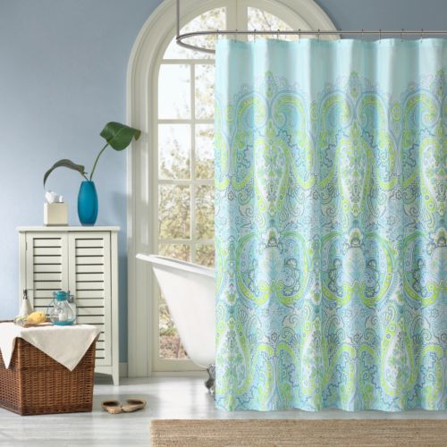 How Wide Should Curtains Be Shoreline Shower Curtain