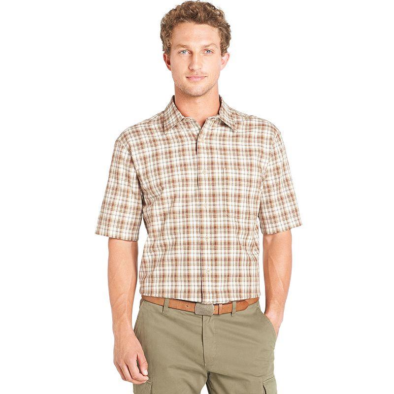 Arrow Corded Homespun Plaid Button Down Shirt Big Tall