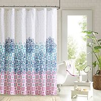 90° by Design Lab Katrina 14-pc. Fabric Shower Curtain & Hook Set
