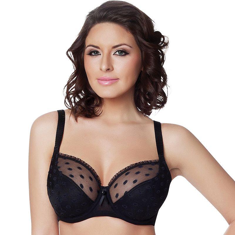 Parfait by Affinitas Bra: Kitty Sheer Lace Full-Figure Bra 2102 - Women's