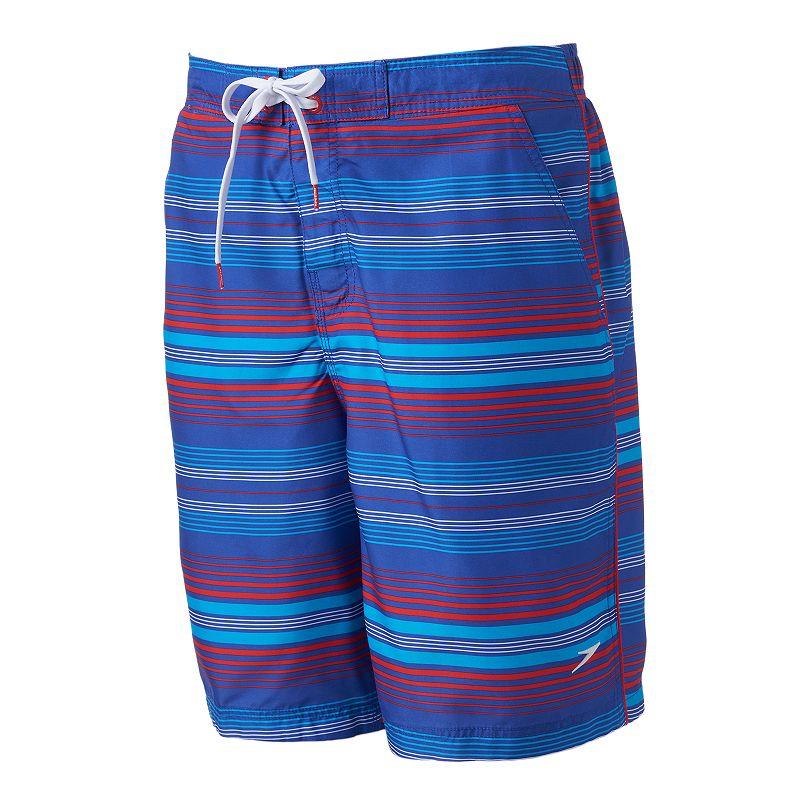 Men's Speedo Striped E-Board Shorts