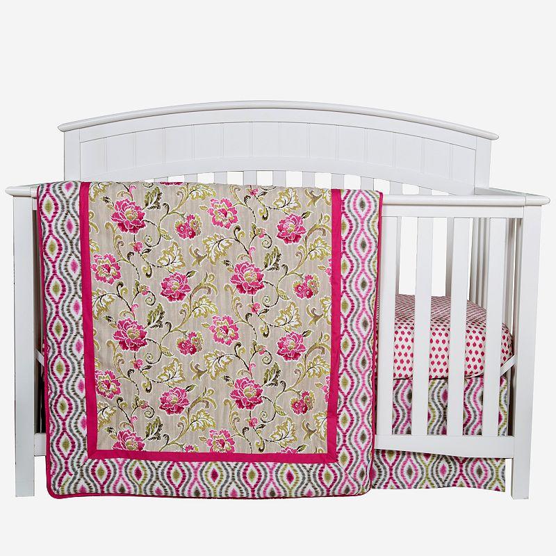 Trend Lab Waverly Jazzberry 3-pc. Crib Bedding Set