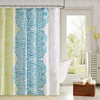 90° by Design Lab Selina 14-pc. Fabric Shower Curtain & Hook Set