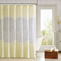 90° by Design Lab Cece 14-pc. Fabric Shower Curtain & Hook Set