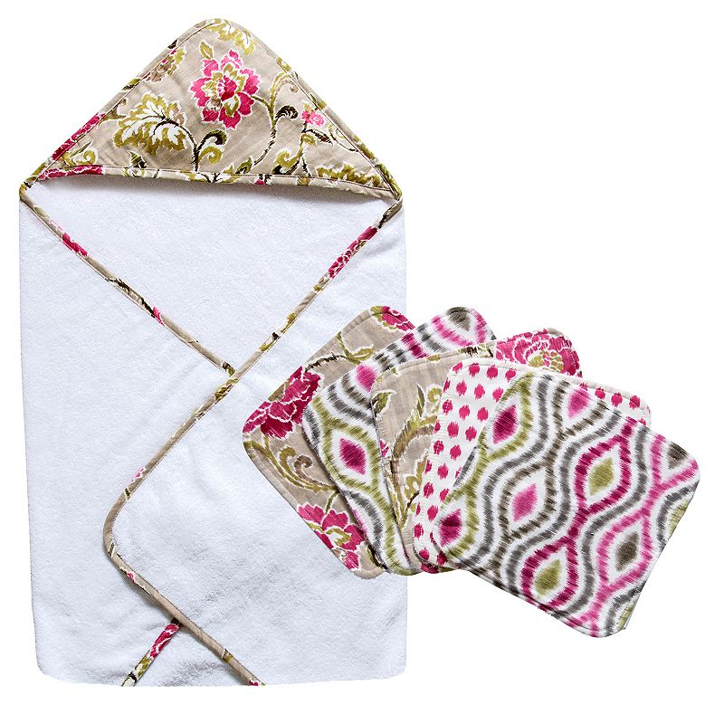 Trend Lab Waverly Jazzberry 6-pc. Hooded Towel and Washcloth Set