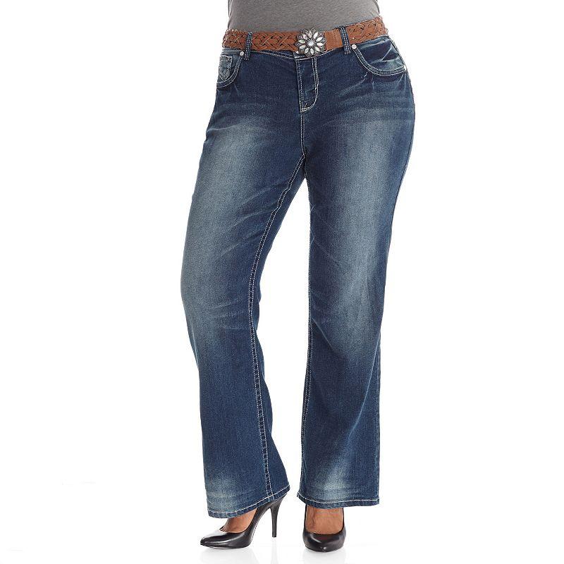 Juniors' Plus Size Wallflower Legendary Bootcut Jeans
