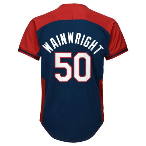 Boys 8-20 Majestic St. Louis Cardinals Adam Wainwright Fashion Batting Practice MLB Jersey