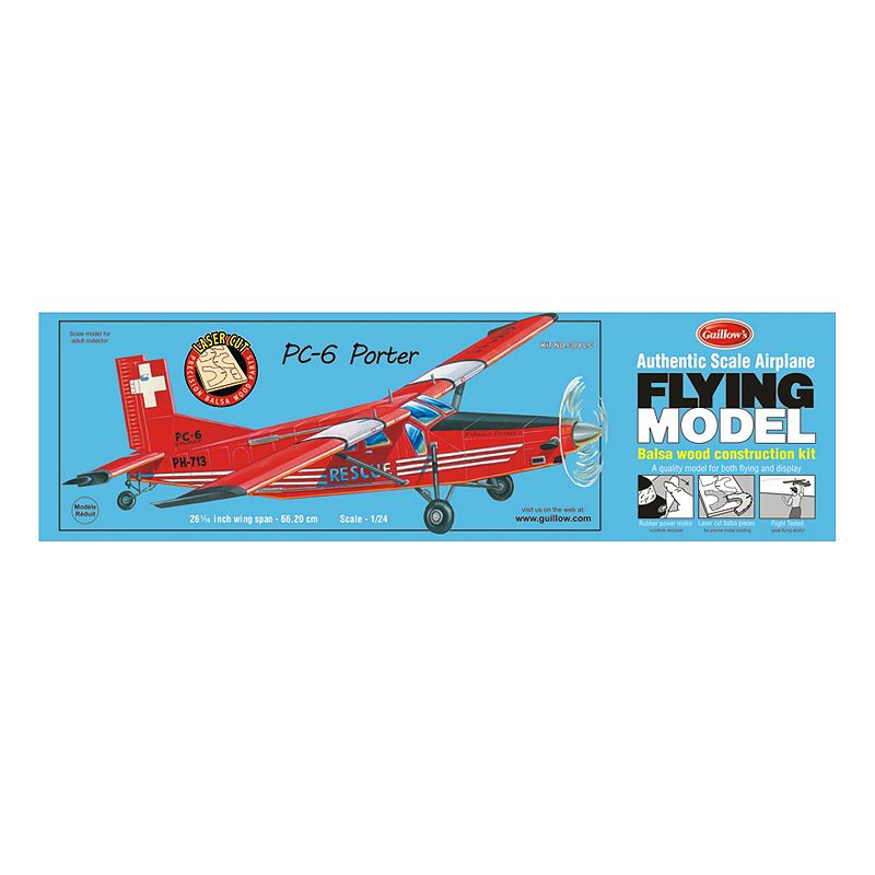 Guillow's Porter PC-6 Laser Cut Model Airplane Kit