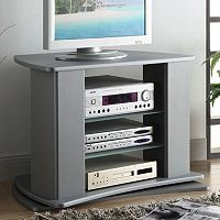 4D Concepts Swivel-Top Gray TV Stand