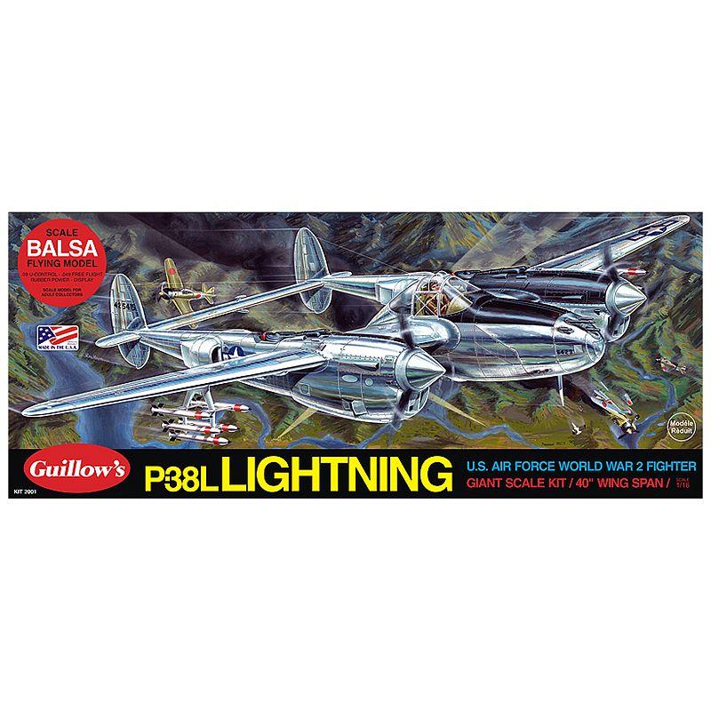 Guillow's Lockheed P-38 Lightning Model Airplane Kit