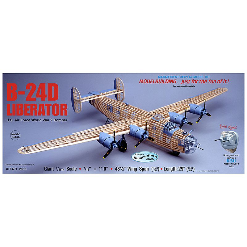 Guillow's Consolidated B-24D Liberator Model Airplane Kit