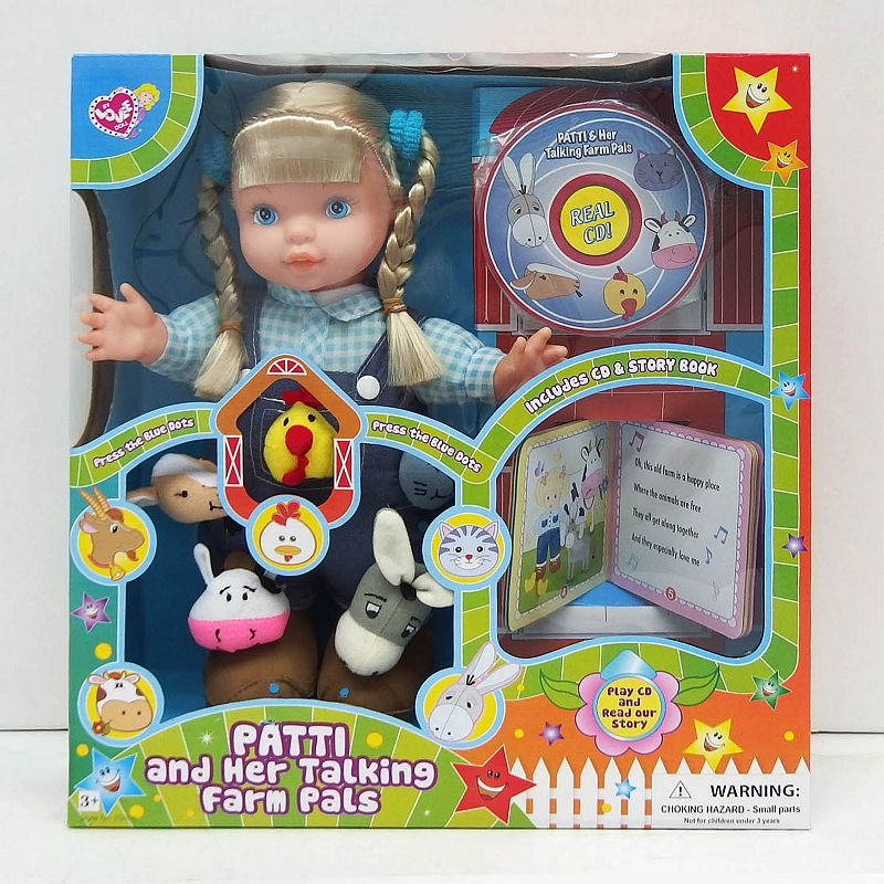 Love Dolls 13-in. Electronic Soft Patti Doll and Talking Farm Pals