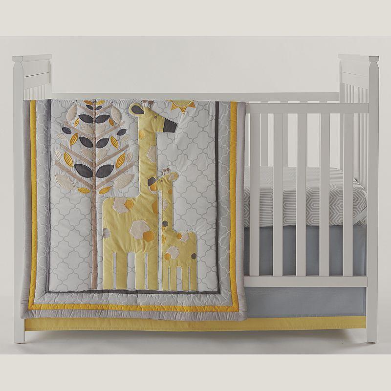 happy chic by jonathan adler safari giraffe 4 pc crib bedding set yellow. Black Bedroom Furniture Sets. Home Design Ideas