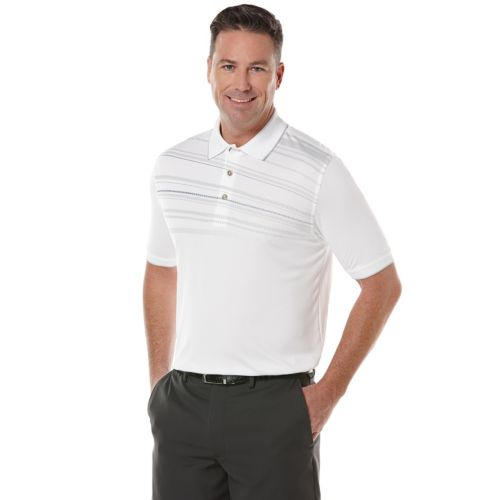 Men's Grand Slam Slim-Fit Linear Striped Performance Golf Polo
