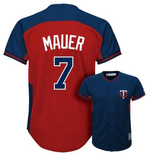 Boys 8-20 Majestic Minnesota Twins Joe Mauer Fashion Batting Practice MLB Jersey