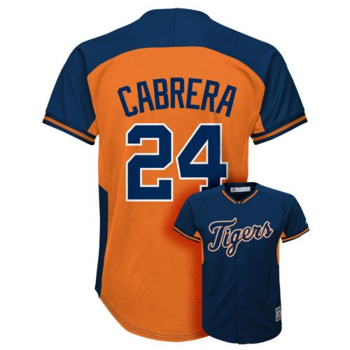 Boys 8-20 Majestic Detroit Tigers Miguel Cabrera Fashion Batting Practice MLB Jersey