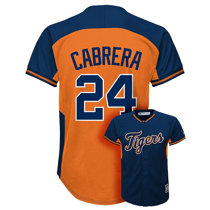Boys 8-20 Majestic Detroit Tigers Miguel Cabrera Fashion Batting Practice MLB Jersey