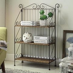 4D Concepts Farmington 3-Tier Folding Bookcase by