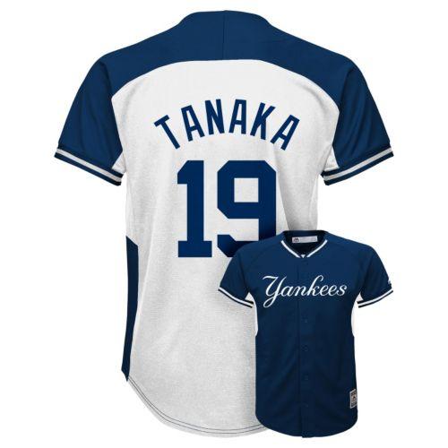 Boys 8-20 Majestic New York Yankees Masahiro Tanaka Fashion Batting Practice MLB Jersey