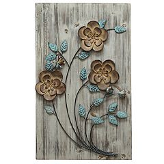 Stratton Home Decor Rustic Floral Panel I Wall Decor by