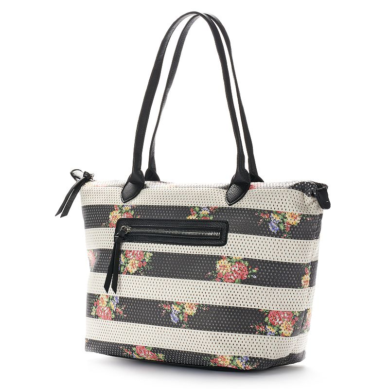 Dolce Girl Perforated Floral Tote