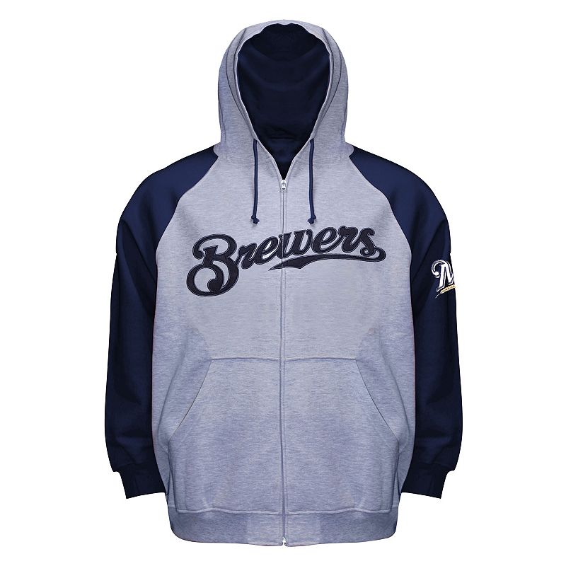 Big & Tall Milwaukee Brewers Full-Zip Raglan Hoodie