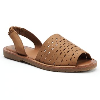 SO Womens Two-Piece Slingback Sandals
