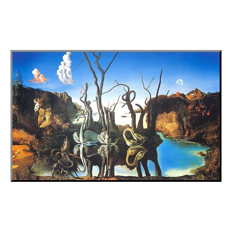 Art.com ''Reflections of Elephants'' Wood Wall Art by Salvador Dalí