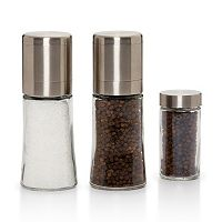 Kamenstein Elite 3-pc. Pepper & Sea Salt Spice Grinder Set
