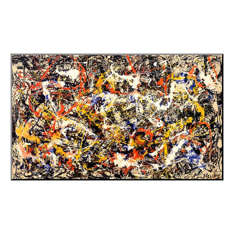 Art.com ''Convergence'' Wood Wall Art by Jackson Pollock