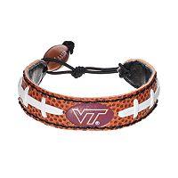 GameWear Virginia Tech Hokies Leather Football Bracelet