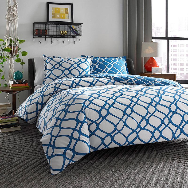 City Scene Arlo Reversible Duvet Cover Set