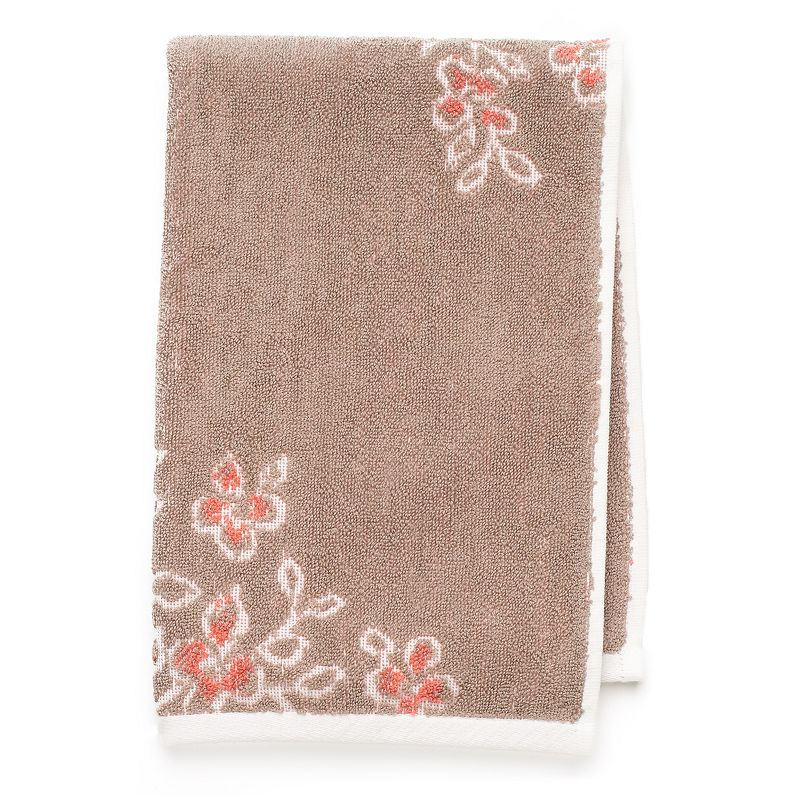 Coral Garden Floral Hand Towel