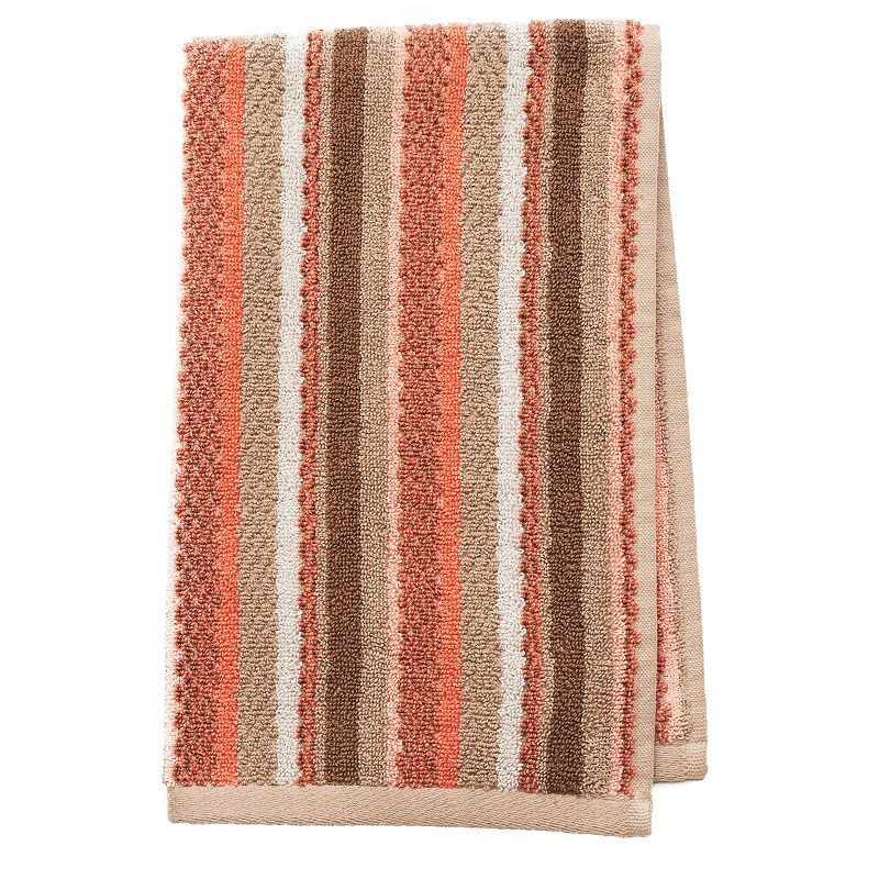 Coral Garden Striped Hand Towel