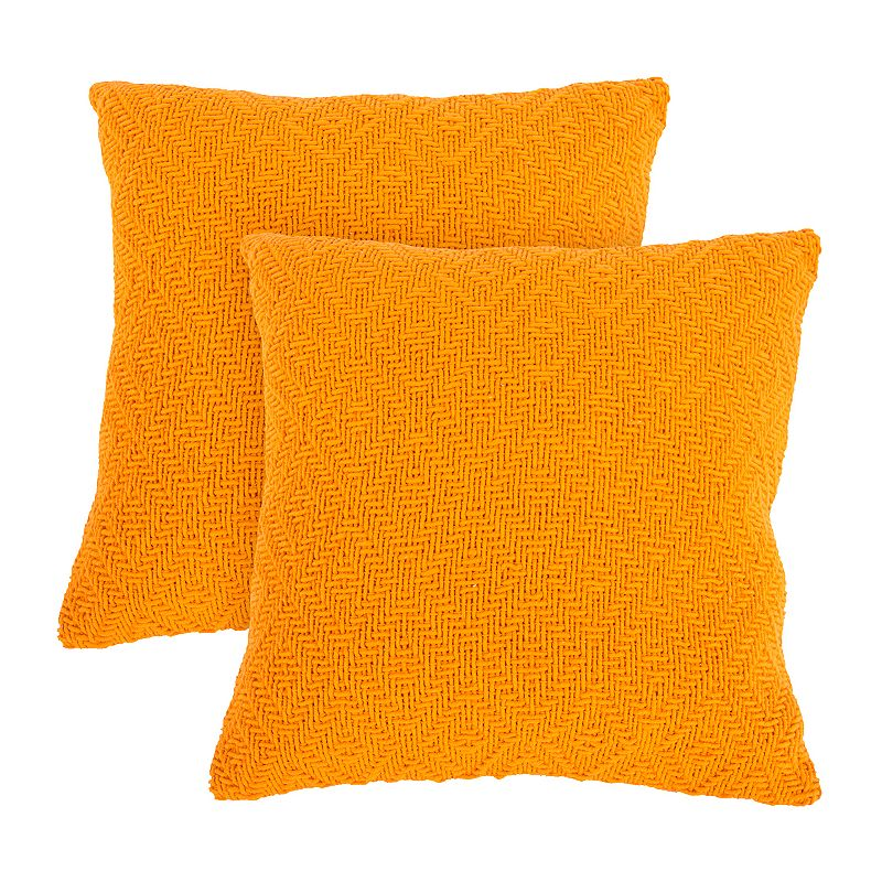 2-piece Woven Throw Pillow Set