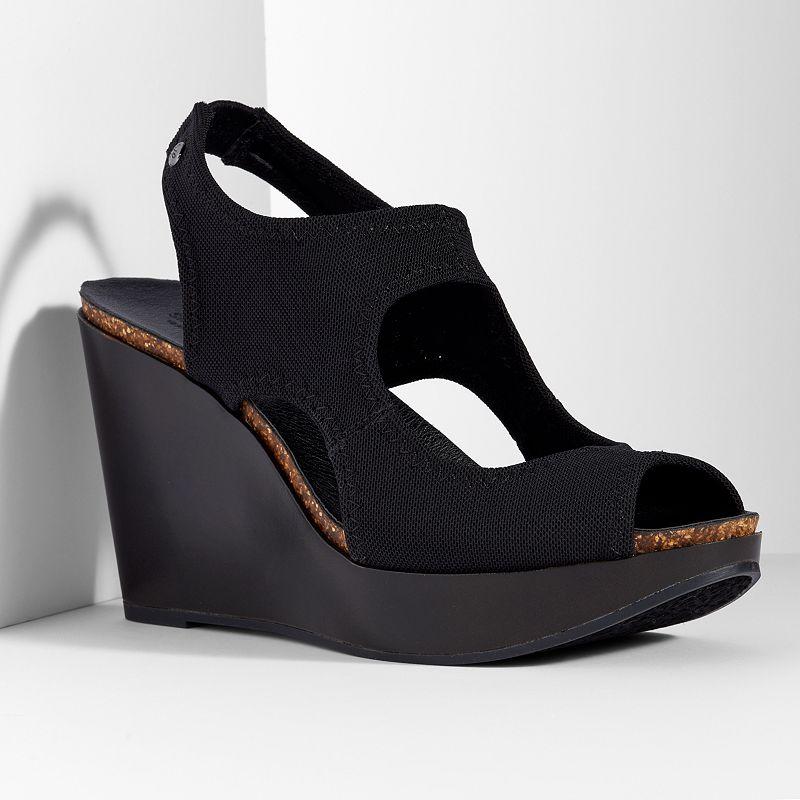 Simply Vera Vera Wang Women's Platform Wedge Peep-Toe Sandals