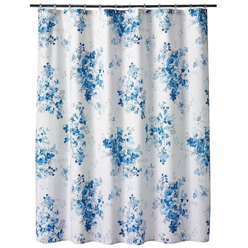 LC Lauren Conrad Forget Me Not Fabric Shower Curtain