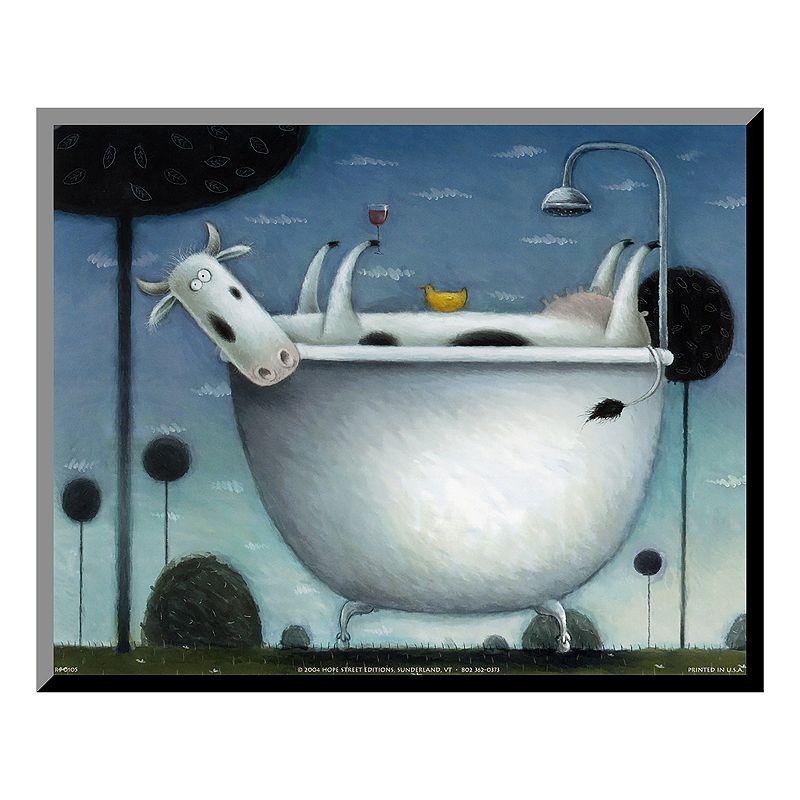 Art.com ''Heaven is a Hot Bath'' Wood Wall Art