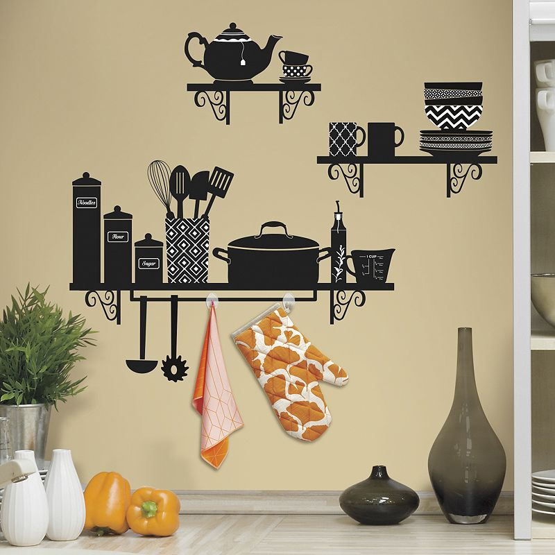Build a Kitchen Shelf Wall Decals