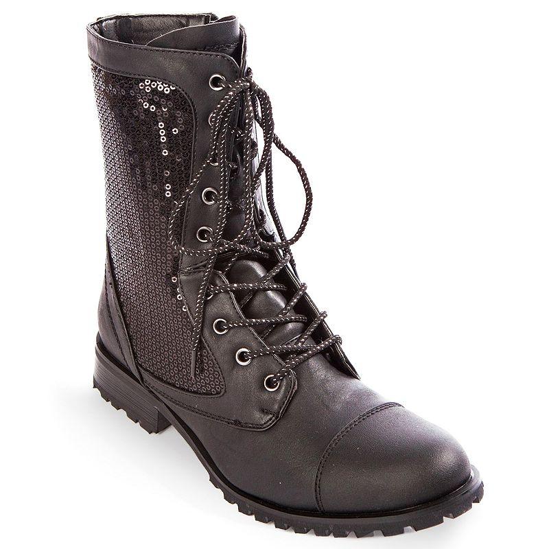 Gia-Mia Kombat Women's Sequin Combat Boots