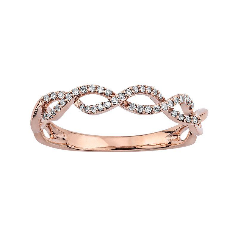 1/8 Carat T.W. Diamond 10k Gold Infinity Ring