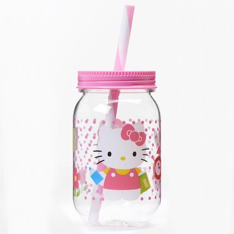 Zak Designs Hello Kitty 19-oz. Jar Tumbler, Pink