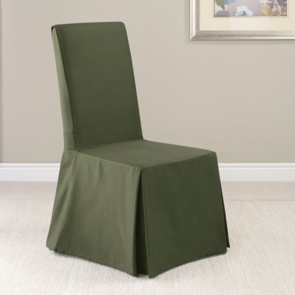 Sure Fit Twill Supreme Skirted Dining Room Chair Slipcover