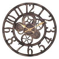 Open Gears Wall Clock