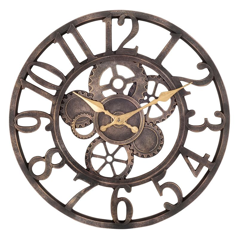 Analog wall clock kohl39s for Open gear wall clock