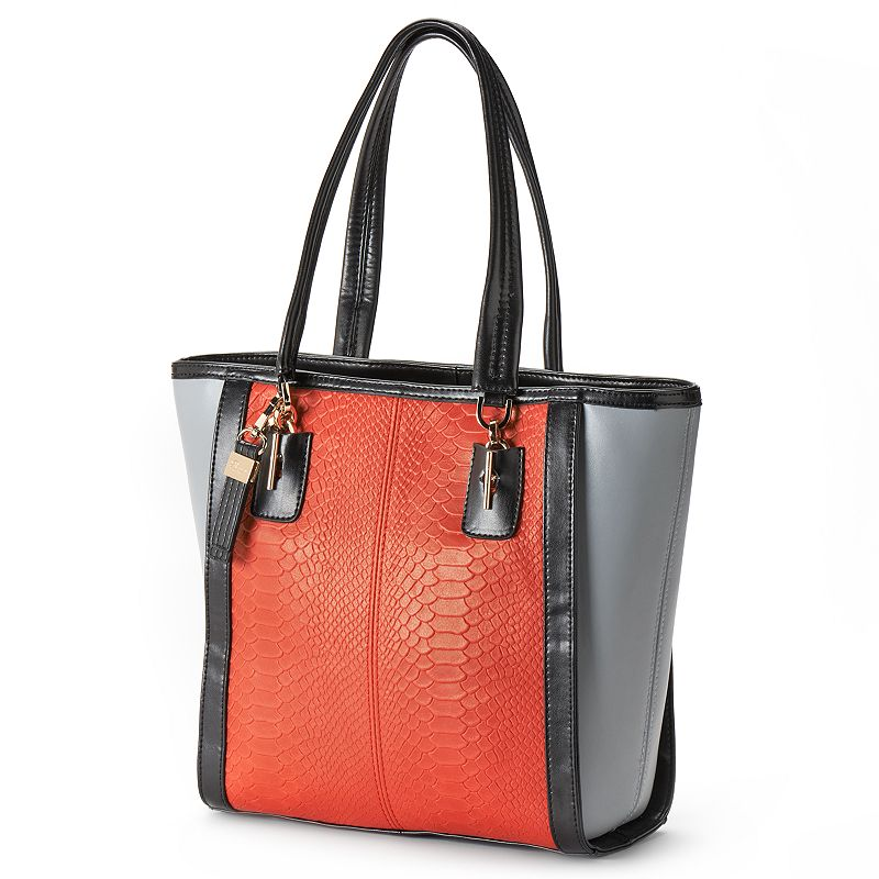 Buxton Leather Colorblock Tote