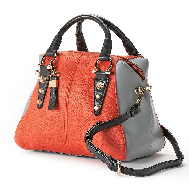 Buxton Convertible Leather Colorblock Satchel