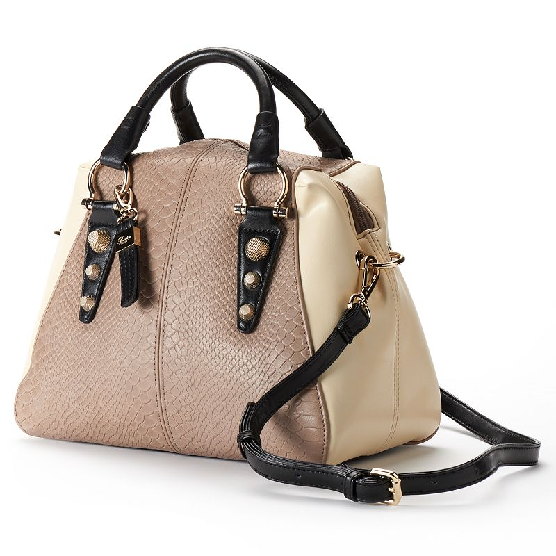 Buxton Convertible Leather Colorblock Satchel