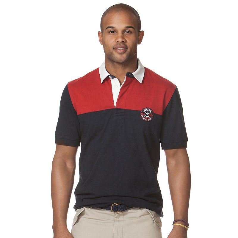 Big tall chaps hutchinson rugby polo for Big and tall polo rugby shirts